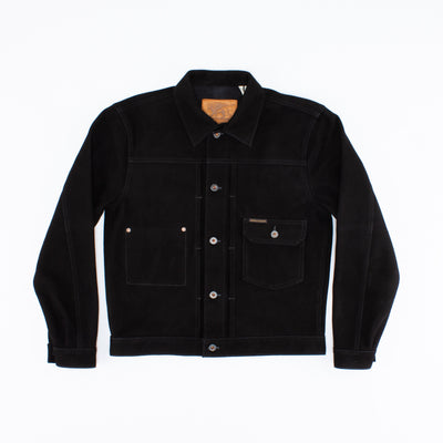 Grant Leather Jacket - Black Nubuck