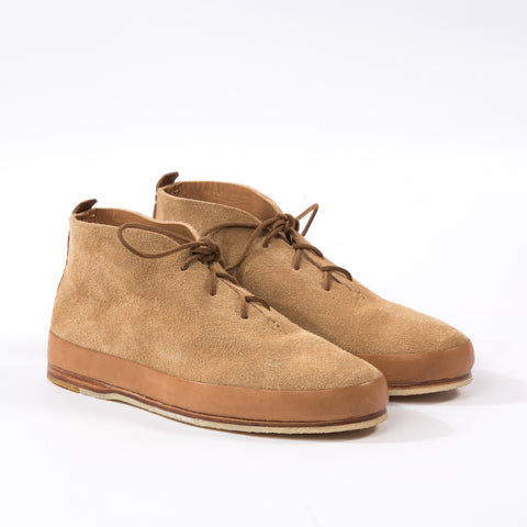 Hand Sewn Desert Boot - Tan Suede