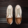Hand Sewn Low Sneaker - Raw White Semi Cordovan Suede