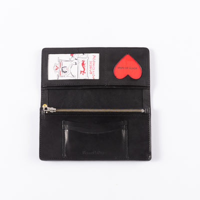 Handpainted Dragon Souvenir Wallet - Black
