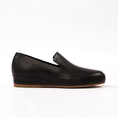 Hand Sewn Slipper - Black
