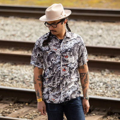 Hawaiian Shirt - Black Tiger