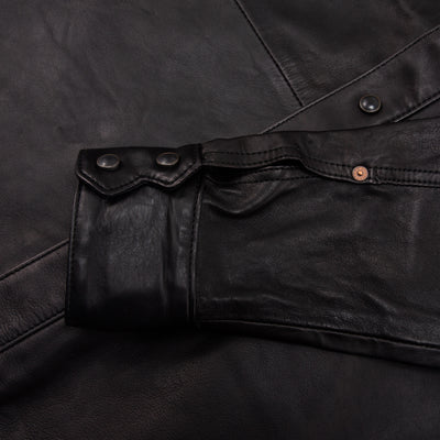 Hawley Goat Leather Western Shirt - Black
