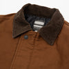 Heavy Moleskin Military Jacket - Brown