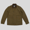 Heavy Moleskin Military Jacket - Olive