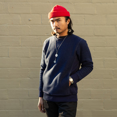 Heavyweight Crewneck Sweater - Indigo