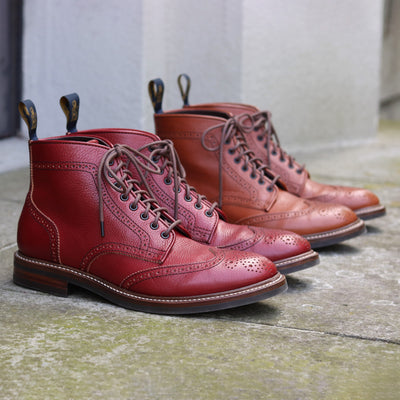 [Pre-order for February 2021 delivery] Brogue Boots - Burgundy Vacchetta