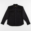 Dollard Shirt - Two Tone Black Cotton/Linen