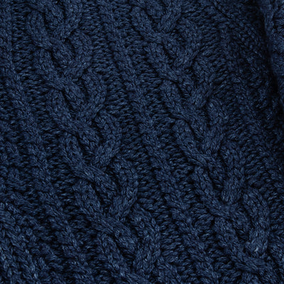 The Real McCoy's Indigo Aran Shawl Collar Cardigan - Standard & Strange