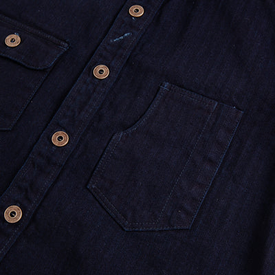 Indigo Herringbone Work Shirt
