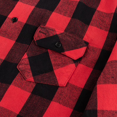 Norris Shirt - Red/Black Selvedge Flannel