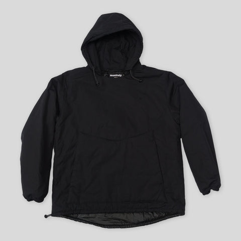 Insulated Vancloth Hooded Pullover - Black