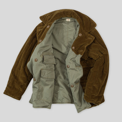 Corduroy Reversible Irish Field Coat - Khaki