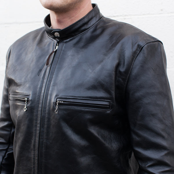 The Real McCoy's Buco J-100 Horse Hide Leather Riders Jacket - Black