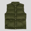 Joe McCoy Nylon Down Vest - Olive