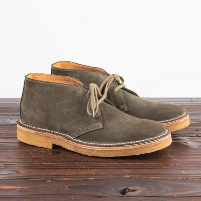 Desert Boots - Olive Suede