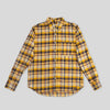 Jumper Shirt Long Sleeve - Gold Neppy Plaid