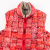 Bandanna Print Nylon KEEL-WEAVING Vest - Red