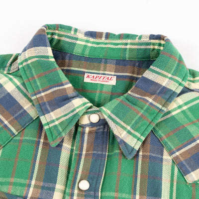Western Shirt - Green Flannel Check