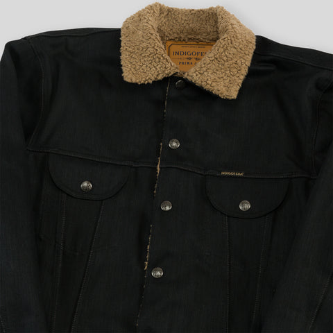 Kyle Black Denim Sherpa Jacket