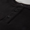 Heavyweight Long Sleeve Henley - Black