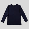 Heavyweight Long Sleeve Henley - Indigo