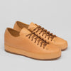 Hand Sewn Low Sneaker - Natural Leather