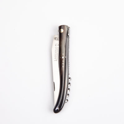 Laguiole Knife - Blonde Horn w/ Corkscrew