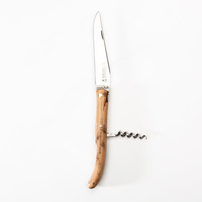Laguiole Knife - Juniper w/ Corkscrew