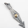 Large VFSW Arrow Pendant / 14k Gold P-571