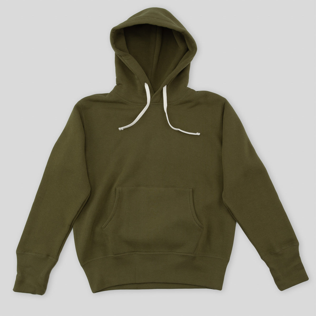 cc3321e6ced05 The Real McCoy's Loopwheel Pullover Hoodie - Olive - Standard & Strange