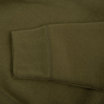 The Real McCoy's Loopwheel Crewneck Sweatshirt - Olive