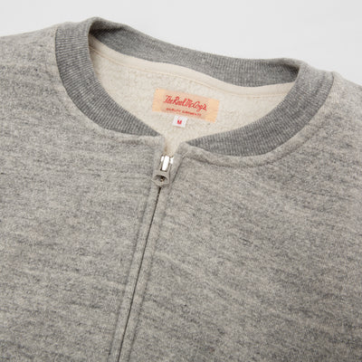 Loopwheel Zip Sweatshirt - Gray