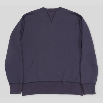 The Real McCoy's Loopwheel Crewneck Sweatshirt - Navy