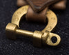 Lucky Horseshoe Shackle Keychain - Horween Natural CXL