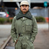 MA-1 Nylon ARMY SHA-KA Jacket (Mud Finish) - Khaki