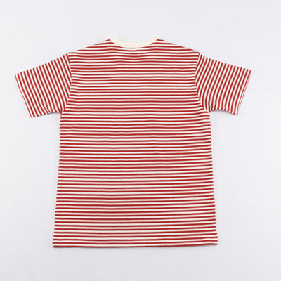 Marine Stripe Pocket Tee - White / Red