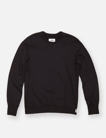 Midweight Twill Terry Crewneck - Black