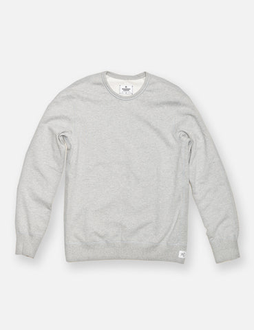 Midweight Twill Terry Crewneck - Grey