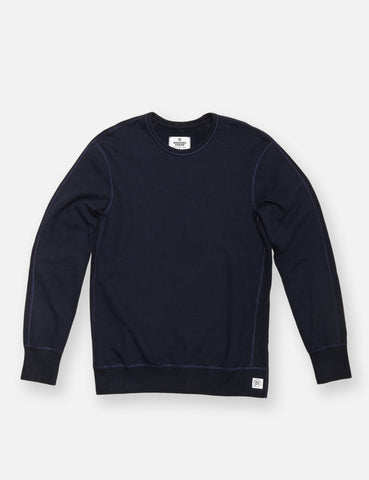 Midweight Twill Terry Crewneck - Navy