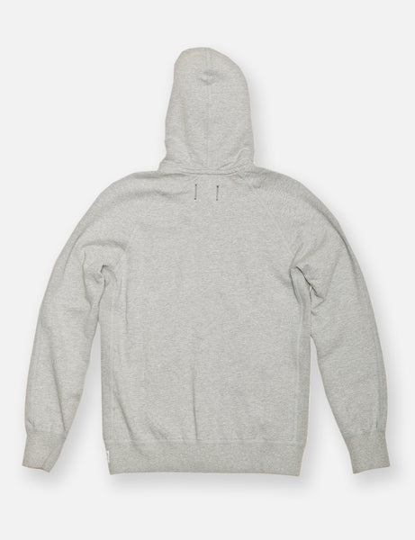 Midweight Twill Terry Zip Hoody - Heather Grey