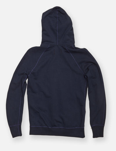 Midweight Twill Terry Zip Hoody - Navy