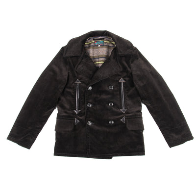 Roamer Car Coat - Black Heavy Corduroy