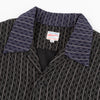 Cotton/Linen Stripe Aloha Shirt - Black