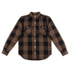 Work Shirt - Brown Herringbone Check