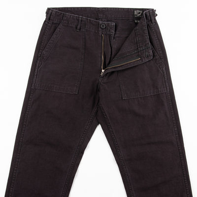Slim Fit Fatigue Pants - Black Stone Washed