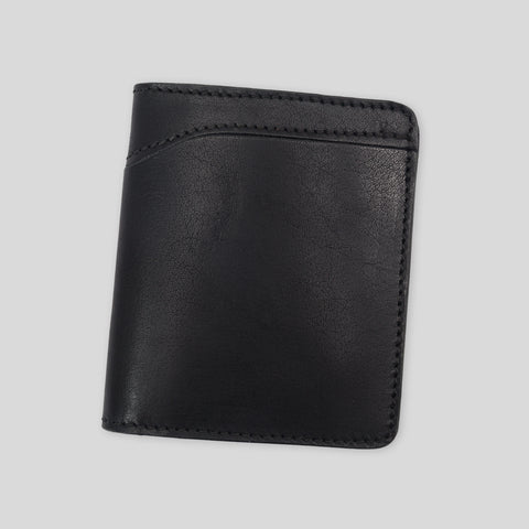 Outer Bi-fold Wallet - Raven Black Veg Tan
