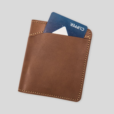 Outer Bi-fold Wallet - Sienna Brown Veg Tan