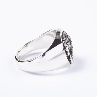 Pharaoh's Horse Ring - Oval - Silver
