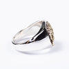 Pharaoh's Horse Ring - Oval - Silver x 10K Gold